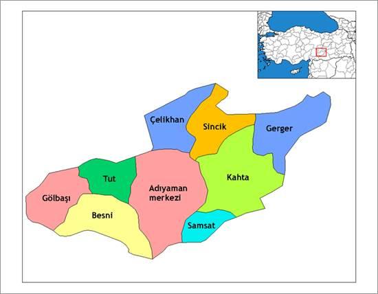 Adıyaman haritası