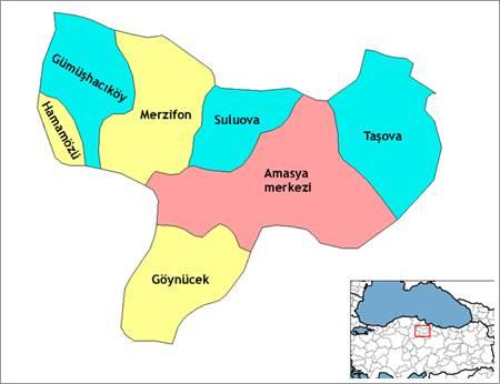 Amasya haritası