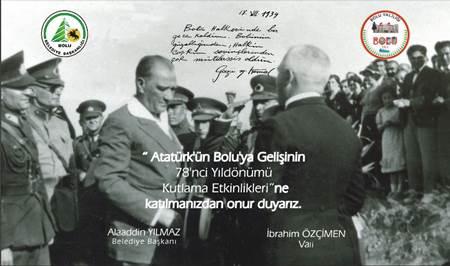 Atatürk'ün Bolu'ya gelişi