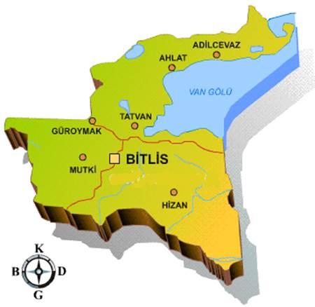 Bitlis haritası