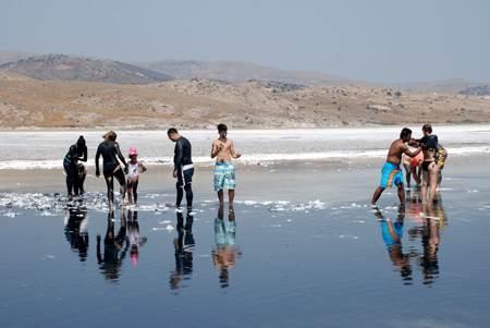 Canakkale Gökçeada Tuz Gölü doğal güzellik